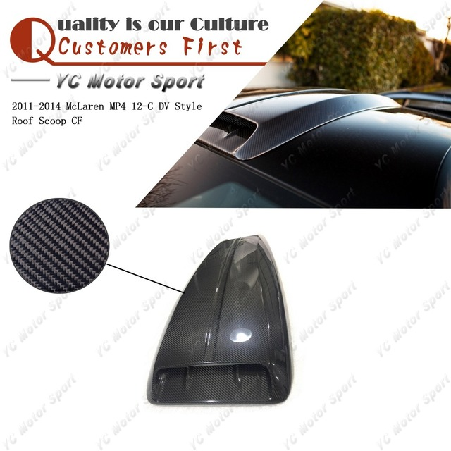 Car Accessories Dry Carbon Fiber Dv Style Roof Scoop Fit For 2011