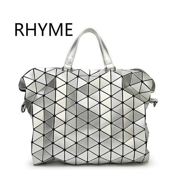 RHYME Woman baobao Diamond briefcase Shoulder Fold bao bao handbag Geometry Package Luminous Sequins Mirror Plain Tote