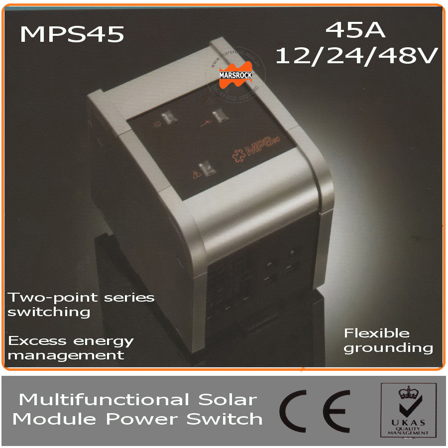 45A 12/24/48V Solar Module Power Switch with LED, Auto Identification System &Temperature Compensation for off grid solar system brontë emily агнес грей