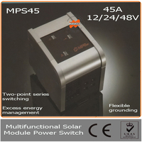 45A 12/24/48V Solar Module Power Switch with LED, Auto Identification System &Temperature Compensation for off grid solar system