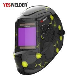 casque de soudage couleur vraie Super grand écran de visualisation masque de soudage 100*93mm solaire Auto assombrissement capot