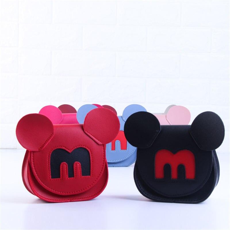 Sacos de Ombro das Crianças dos desenhos animados da disney mickey mouse Minnie saco pequena mudança saco do telefone móvel das Mulheres das Mulheres bolsas