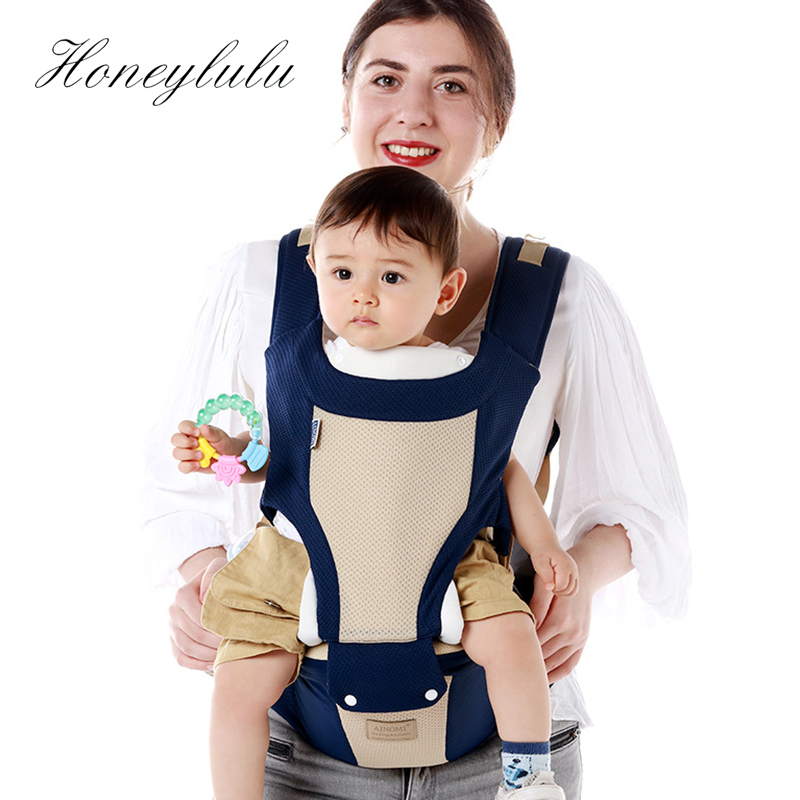 Honeylulu 3 in 1 Baby Carrier Breathable Hipseat Sling Shoulder Kangaroo Backpack Carrying For Children Ergoryukzak For Newborns