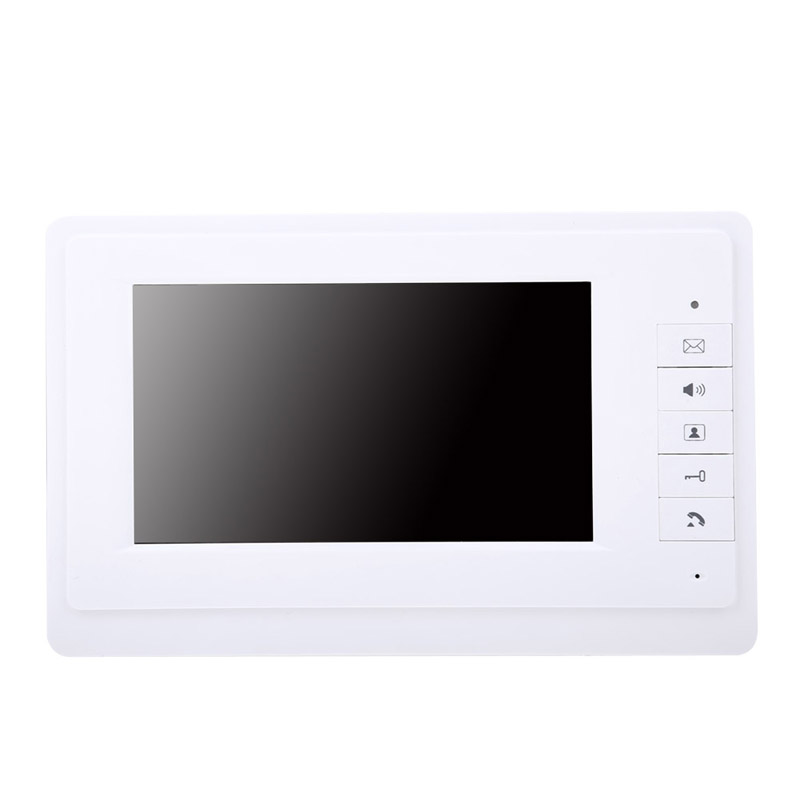 800 X480 7 TFT LCD Screen IR Camera Video Door Phone Intercom Doorbell System Doorphone Monitor Speakerphone intercom wired video door phone intercom doorbell system 7 tft lcd monitor screen with ir coms outdoor camera video door bell