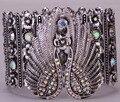 Asas de anjo cristal trecho pulseira de punho para mulheres motociclista punk jóias antigas banhado a prata atacado dropshipping D05