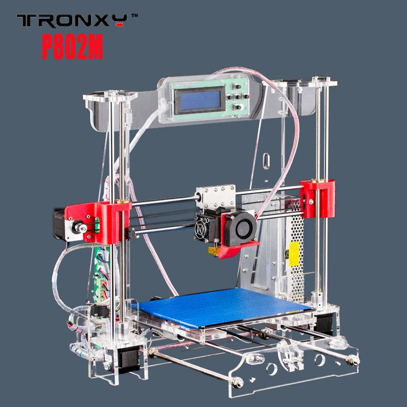 max print size 220*220*240mm New Upgraded Quality High Precision Reprap 3D printer Prusa i3 DIY kit P802M