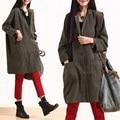 2016 mulheres de nova primavera e outono metade luva frouxo plus size outerwear