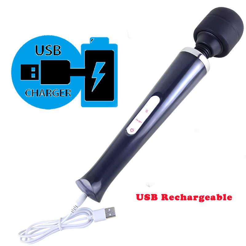 Vibradores varita mágica enorme para mujeres, palo AV grande con carga USB masajeador estimulador de clítoris punto G femenino, Juguetes sexuales para adultos para mujer