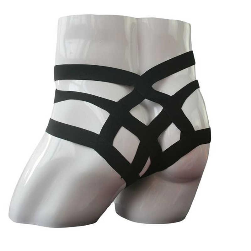 Erkekler Seksi Iç Çamaşırı Sissy Külot Kılıfı Bikini Külot Bandaj Iç Çamaşırı Pijama Seksi Jockstraps Külot Mens Kayış ve G Dize