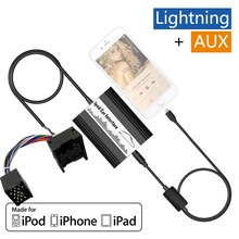 APPS2Car Car Adapter Apple 8 pin Lightning /AUX Music Interface CD Changer for MINI R5x  2001-2006 Wave cassette