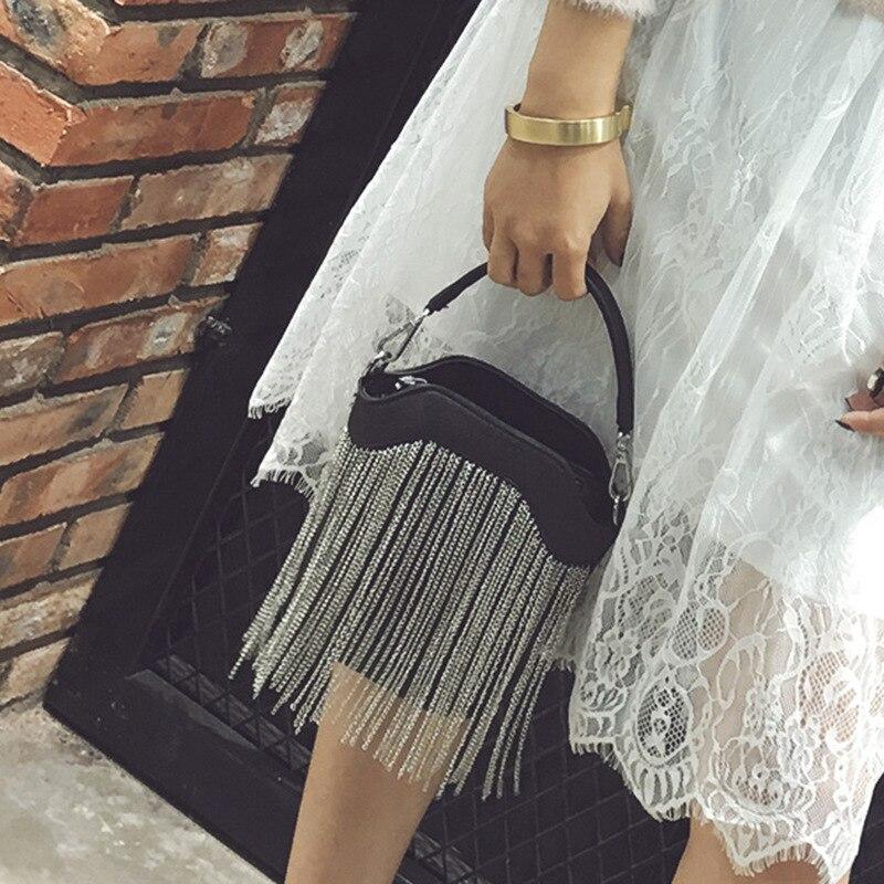 famosas de moda borla pequenos Color : Black/gold/gray