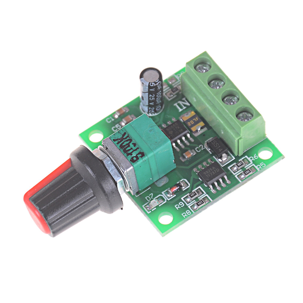 30W 2A DC 1.8V -15V PWM <font><b>Motor</b></font> Speed Controller Regulator Low Voltage <font><b>Fan</b></font> Speed Control Switch PWM Adjustable Drive <font><b>5V</b></font> 12V image
