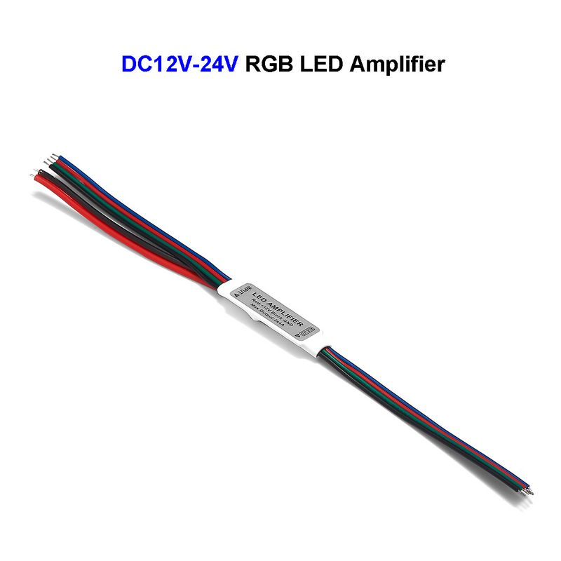 DC12V-24V Mini RGB LED Amplifier 3 Channel Mini Repeater For SMD 5050 3528 RGB LED Strip Lights