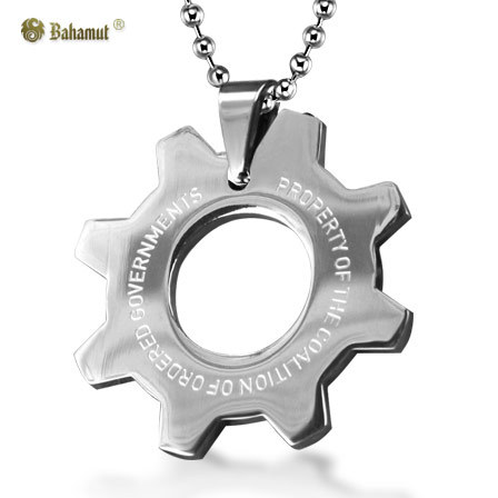 Bahamut Gear of War 4 Necklace Pendant Dog Tag Titanium Steel Jewelry