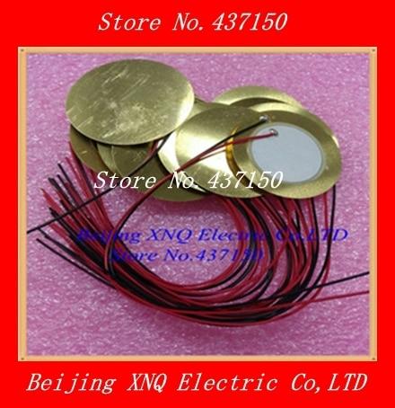 5PCS/LOT    15cm  cable length   diameter  35mm Piezo Ceramic Element