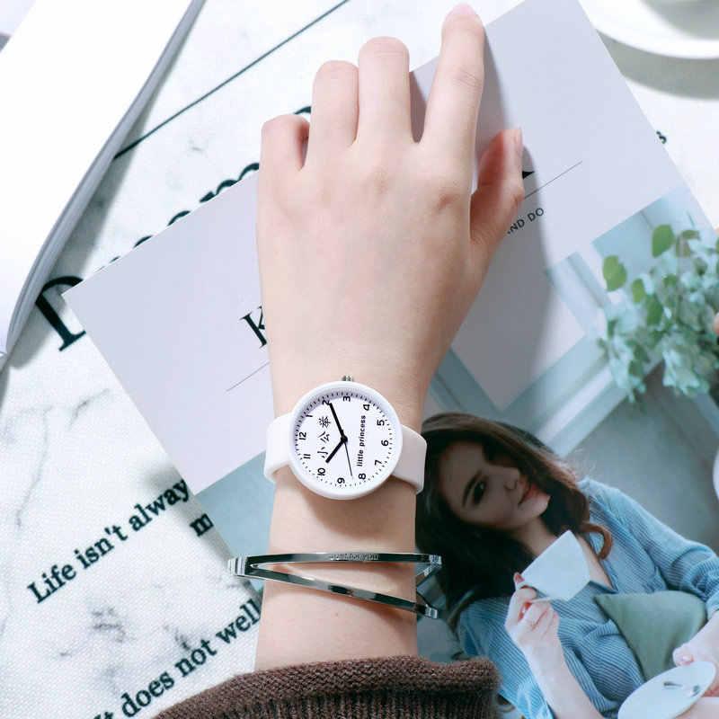2019 ホット販売シリコーンゼリーリトルプリンセスかわいい時計子供腕時計ギフト少年少女のための子供の腕時計シンプルな