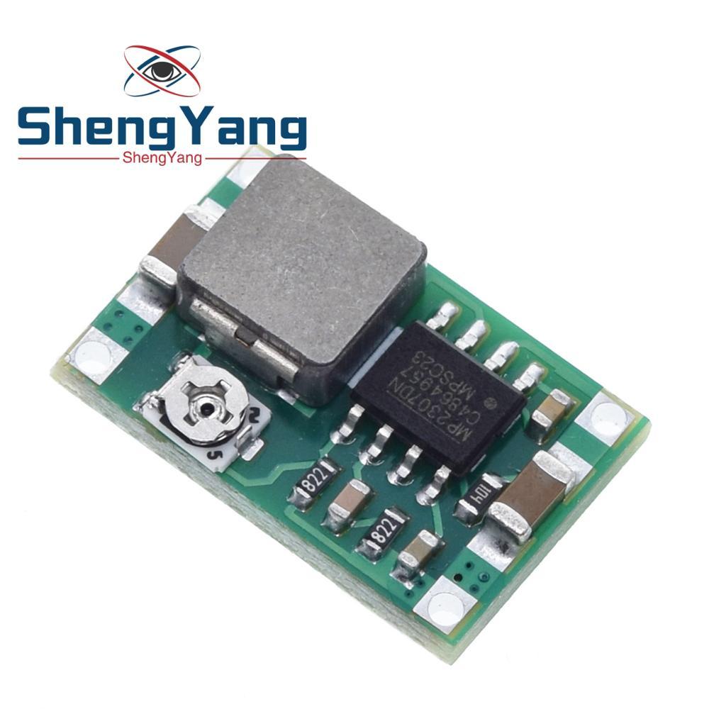 Понижающий преобразователь ShengYang Mini360, 10 шт., понижающий модуль с 4,75 в-23 в на 1 В-17 в, 17x11x3,8 мм, с 1/2/17 в, с 1/3/8 мм