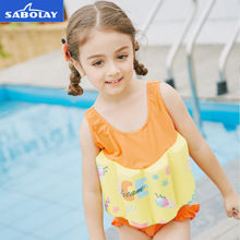 SABOLAY 2-8 Years Old Baby Buoyant Swimwear Floating Girls Quick-drying One-piece Vest Buoyancy Swimsuit Float Kids Swimming sabolay girls buoyant swimming suits children one piece swimwear baby life saving conjoined vest floating swimsuit rash guard