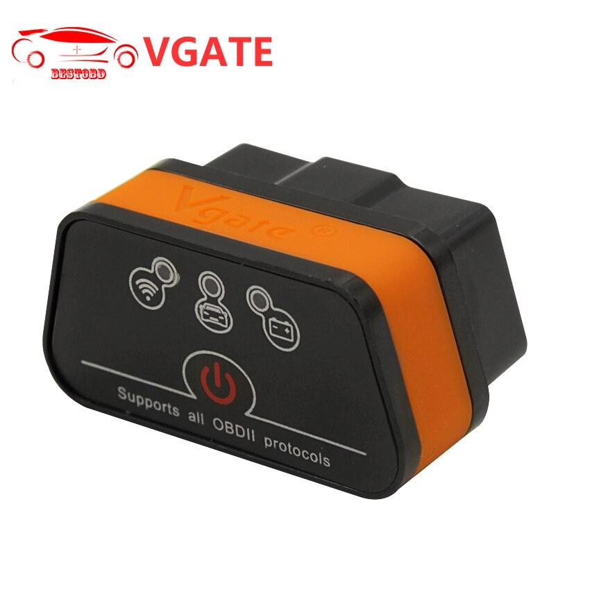 Prix pour OBD2 Scanner Vgate iCar2 ELM327 V2.1 OBD WIFI Bluetooth Outil De Diagnostic Support tous OBD Protocole