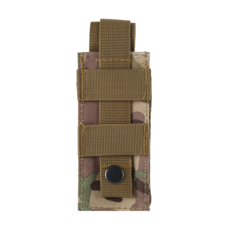 Outdoor Camping Hiking Emergency Tactical Molle Flashlight Scissor Pouch Holster Bag
