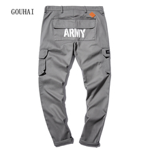 2017 New Solid Cargo Pants Men Military Pants Men Joggers Big Size M-5XL Casual Straight Sweatpants Male Trousers Top Quality