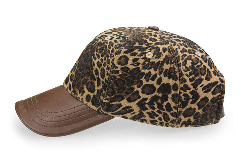 615e9f91c [AETRENDS] Leopard Hats with PU Leather Ponytail Baseball Cap Women Hat  bone feminino 2018 Brand Luxury Caps for Women Z-3892