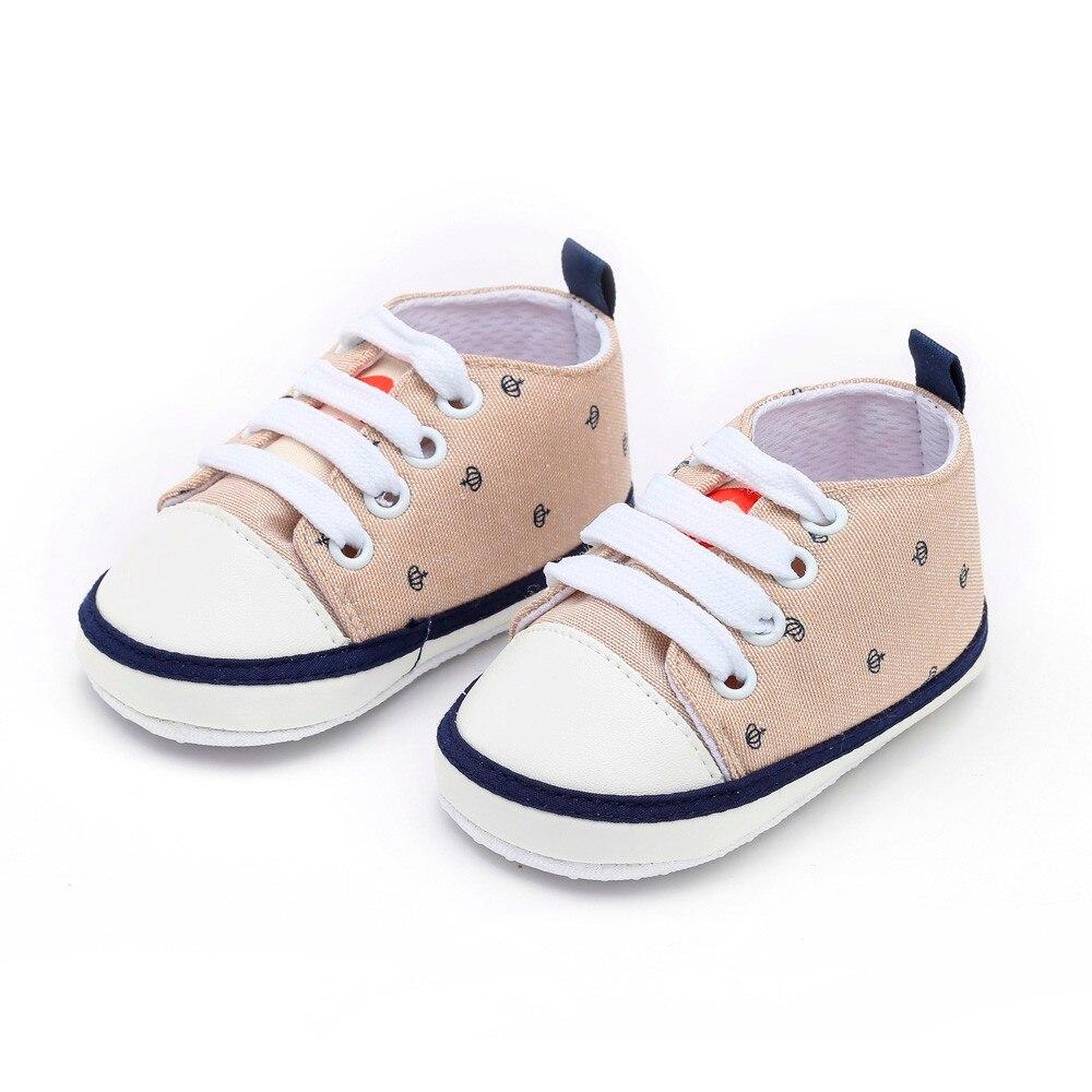 5c8ff25da36e1 Newborn Toddler Shoes Baby Girls Boys Crown Print Solid Cute Soft ...