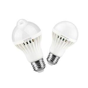 Image 1 - Лампа с датчиком движения 85 265 в движение тела Авто включение/выключение движения/звуковой датчик светильник 3 Вт 5 Вт 7 Вт 9 Вт лестница безопасности Nachtlampje