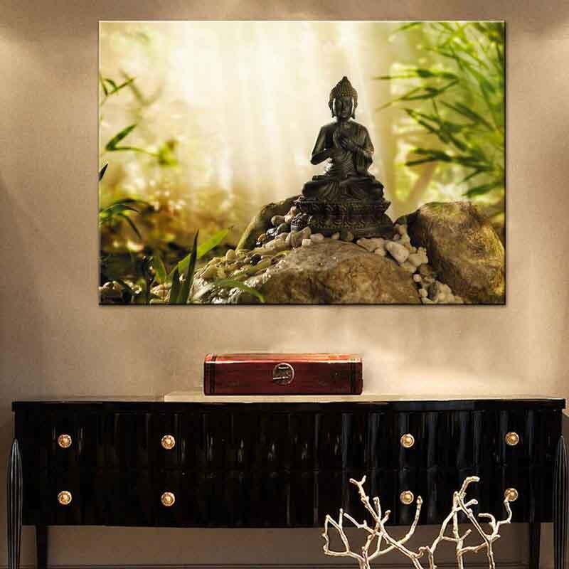 Buddha Meditation Leinwanddruck Malerei Zen Kunst Bild ...