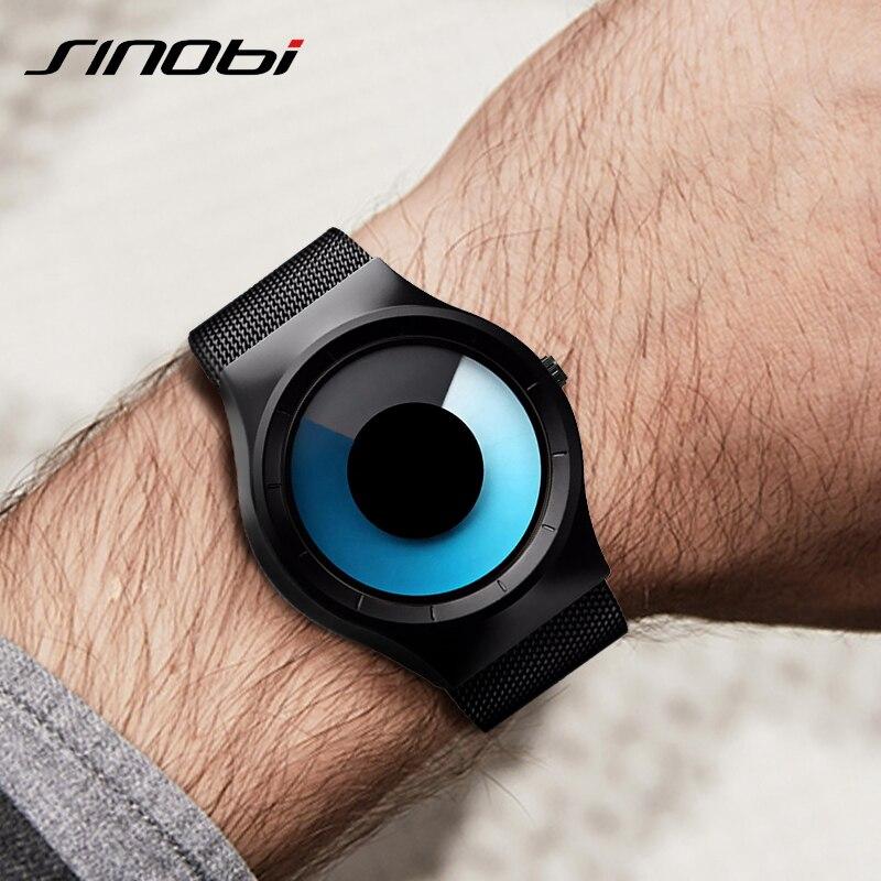 SINOBI Cool Black Man Wrist Watch 2019 Top Brand Luxury Steel Quartz Watches Relogio Masculino Creative Mens Sport Watches Clock|clock brand|clock men|clock men brand - title=
