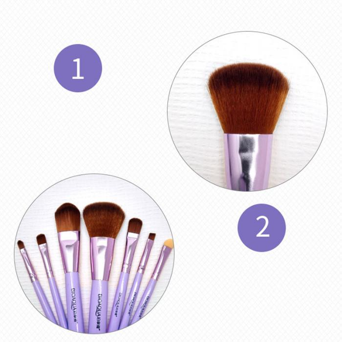 2017 New Hot BIOAQUA 7Pcs Makeup Brushes Set Eye Lip Face Foundation Make Up Brush Kit Soft Fiber Hair Tools Fastshipping WH998 16