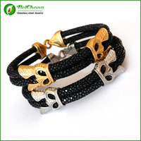 10pcs Fashion high end watch accessories luxury thailand Leather stingray bracelet for watchBrand Genuine Leather Strap