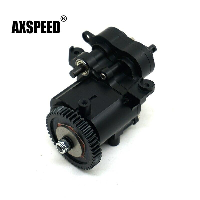 TRX4 todo el Metal negro transmisión/cambios de centro para 1:10 RC Crawler Axial TRAXXAS TRX4 TRX-4 TRX 4 caja de engranajes partes
