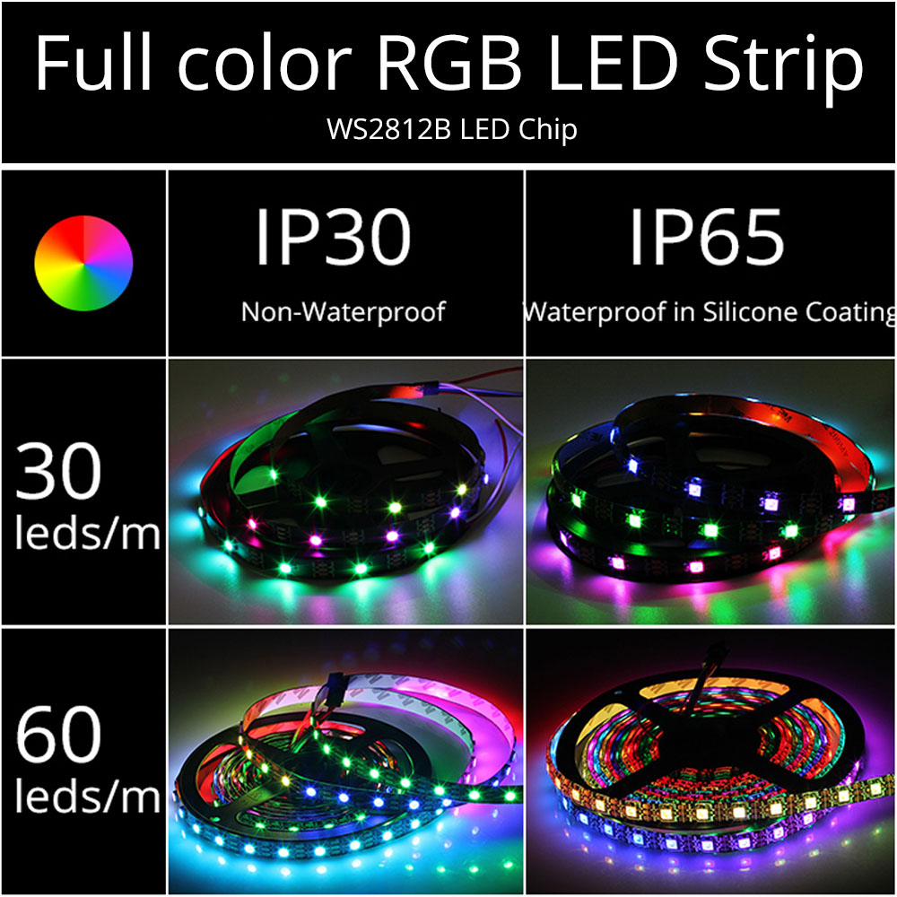 cheapest 5M 10M LED Strip Lights 5050 RGB Colors Waterproof Outdoor LED Lighting Music Sync APP Remote Control Party Decoration Light