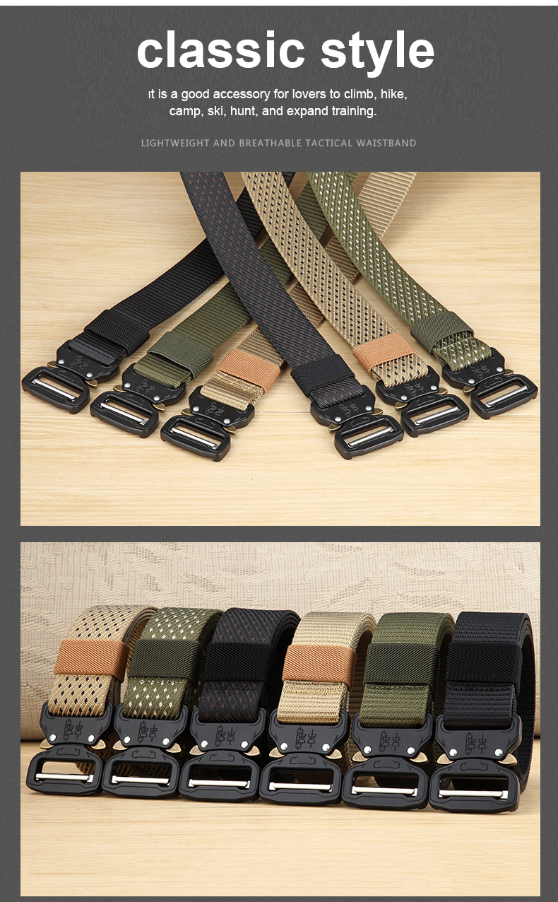 HTB1AY2yUhYaK1RjSZFnq6y80pXa8 - Classic Military Tactical Belt Premium Polyamide Outdoor Sports Quick Release Buckle Belt Mountaineering Ski