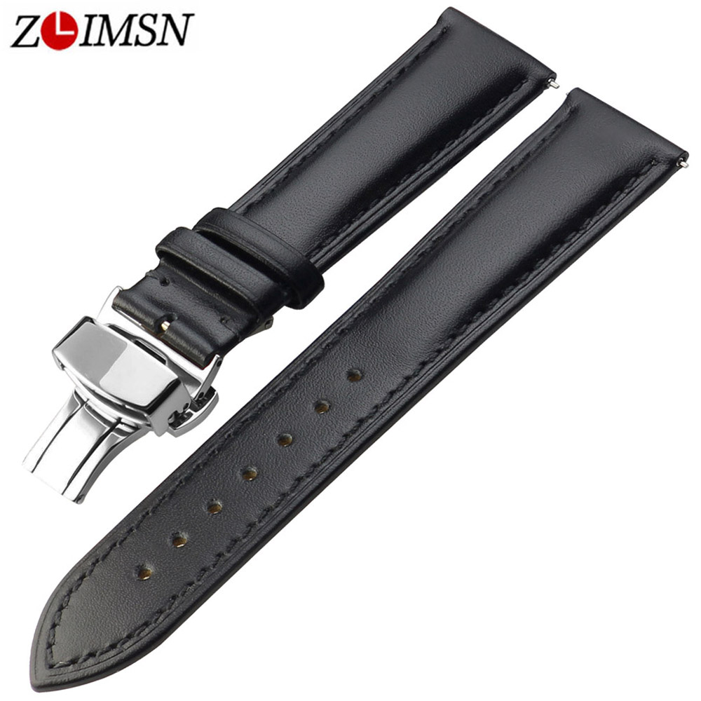NEW 100 Genuine Leather 18 19 20 21 22 23 24 26mm Brown Black Watch Band