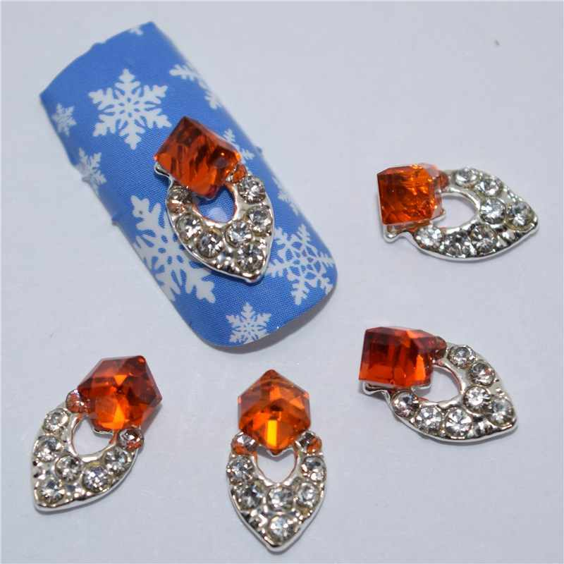 10 pièces 3d ongles bijoux décoration ongles art paillettes strass pour manucure rouge gemme conception ongles accessoires outils #302