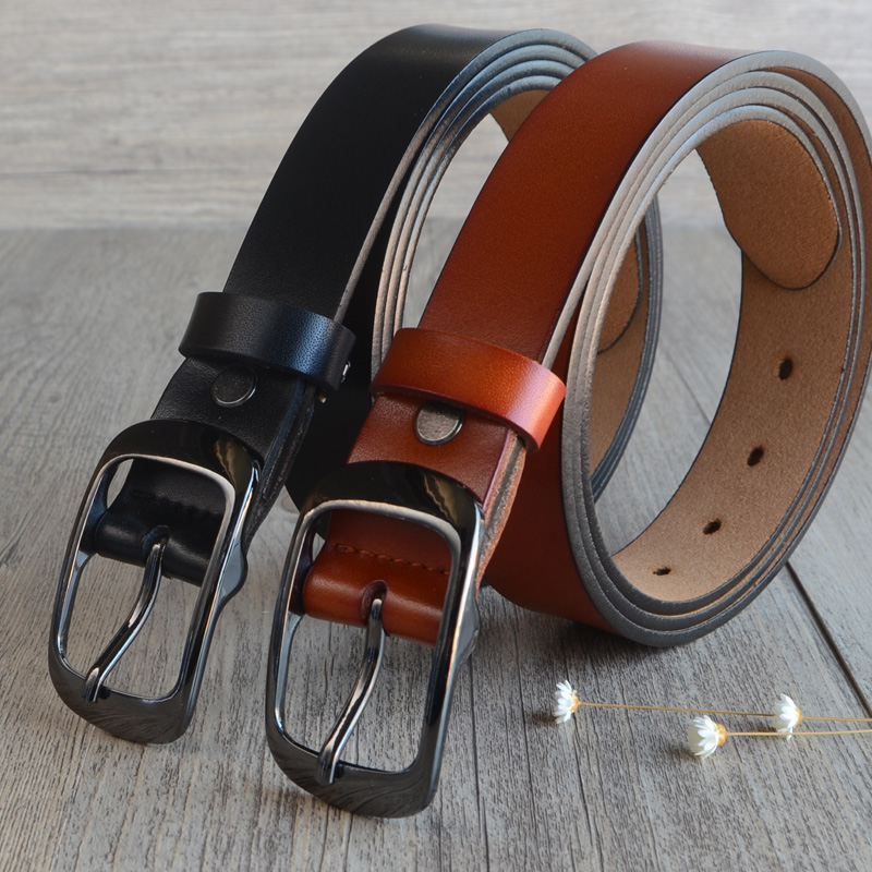 2018 Private customized large size 130 150cm women's belt 100% genuine leather 3.0 wide belt ceinture femme brown Free shipping