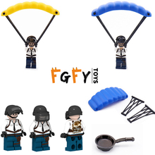 Military LEGOINGLY people figures model pan block parachute camouflages clothing Jedi survival building blocks gifts kids toys