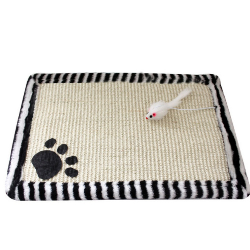 Cute Cats Toy Scratching-stone Mat Pet Double Sided Non-toxic Sisal Biting Chewing Squeaking Toys For Cats