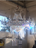 Large Chrome Gold Crystal Chandelier Light Fixtures Used in Living Room Bedroom Guaranteed 100%+Free shipping!