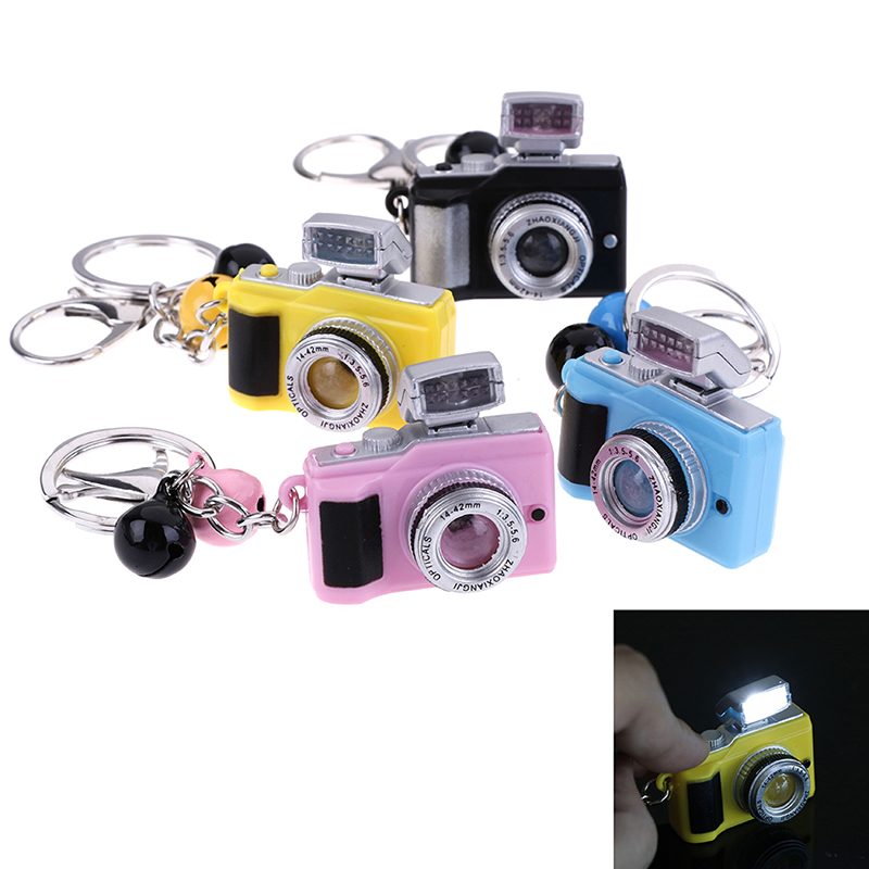 Kids Creative Camera Toy Led Keychains With Sound LED Flashlight Key Chain Funny Toy NEW
