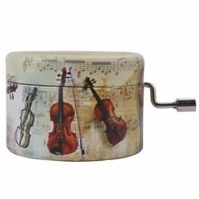 Музыкальная шкатулка «замок в небесах», Классическая Мини-Скрипка для рукоделия, декорация для дома, подарок на день рождения, Рождество