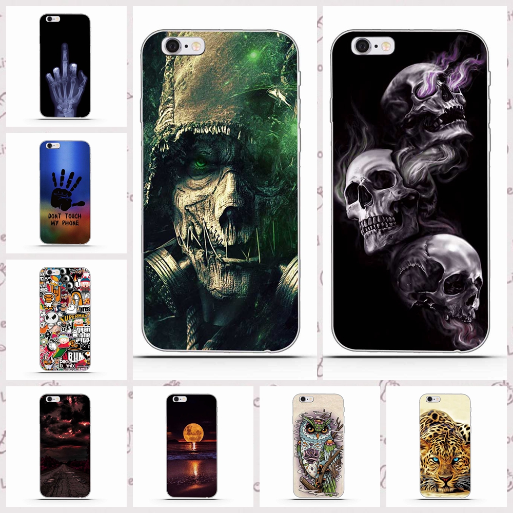 For iPhone 5 Cover Soft Silicone Gel Cover Fundas for iPhone 5S SE Cartoon Phone Cases Protective Case For iPhone 6 plus 7 8plus