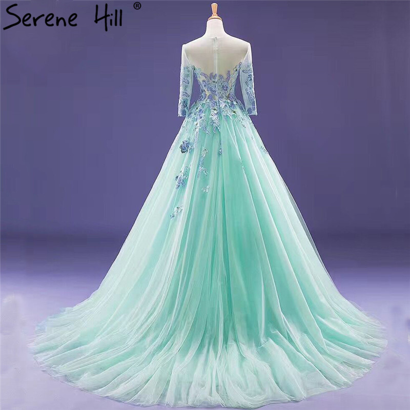 Robe De Mariage Mint Green Wedding Dress Long Sleeves Tulle Photography Train Bridal Gwons 2018 Serene Hill In Dresses From Weddings Events On