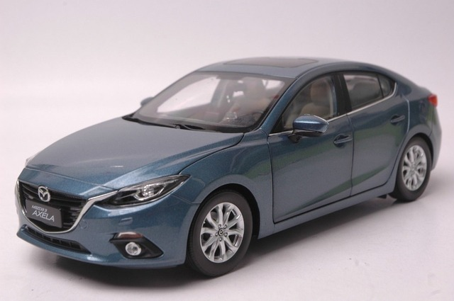 1 18 Diecast Model For Mazda 3 Axela 2014 Blue Sedan Alloy Toy Car