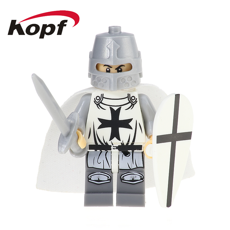 Single Sale Super Heroes Crusader Rome Commander Soldiers Medieval Knights Arvoesine Building Blocks Toys for children XH 645 single sale medieval castle knights dragon knights the hobbits lord of the rings figures with armor building blocks brick toys