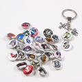 American Basketball Teams Alloy Key Chain Key Rings 18mm Snap Button  Keychains 10pcs