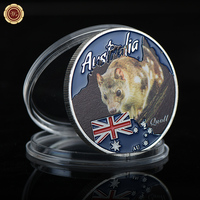 WR Quoll Cute Animal Metal Coins 999.9 Dilver Plated World Life Challenge Coins Decorative Luxury Gifts