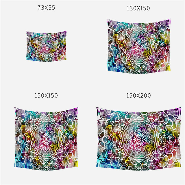 SEAAN Four Sizes Room Decoration Geometric Patterns Tapestry Home Decoration Accessories Polyester Tapestries 4